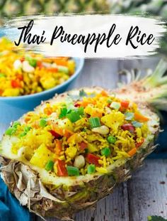 This Thai pineapple fried rice is one of my favorite vegan dinner recipes or one of my favorite vegetarian recipes in general! Find more vegan recipes at veganheaven.org #vegan #recipes #veganrecipes #summerecipes