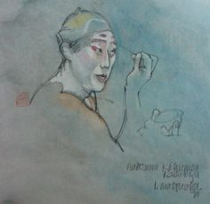Internationally renowned artist that we recently discovered in the Hamptons with was famed reportage artist Lynn Matsuoka; a native New Yorker, who spent 37 years living in Japan. Applying Makeup, How To Apply Makeup, Sumo, Japanese, Artists, World, The World, Makeup Application, Japanese Language