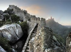 Many travelers who plan their journey to Lisbon, Portugal will not skip the beautiful town of Sintra. This is another tourist center you can find in Portugal. Wonderful landscape and unique … Sintra Portugal, Castle Painting, Tourist Center, Portugal Travel, Portugal Trip, Adventure Tours, Ancient Architecture, Moorish, Beautiful Places To Visit