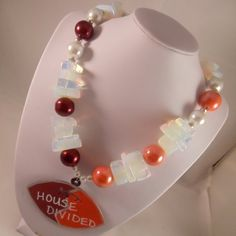Crystal House Divided Necklace by ScarletRoot on Etsy, $40.00