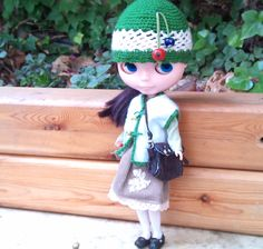 Little Forest Girl Hat, Waistcoat and Bag by RainbowDaisies