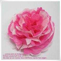 Fleur en papier de soie , Tuto de loisirs créatifs