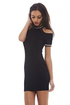 AX Paris Women's Cut Out Shoulder Black Dress *** Check this awesome product by going to the link at the image. (This is an affiliate link and I receive a commission for the sales)