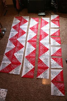 bandana quilts | dresdencarrie: chevron table cloth/quilt top @Ann Flanigan Flanigan Reynolds Sands
