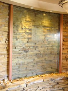 glass indoor wall waterfall - Google Search | Ideas for the House ...