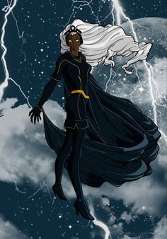 Storm: teaching us a lady is eloquent calm cool and collected... Until it's time to kick some ass