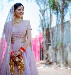 Beautiful Belted Bridal Lehengas That We Spotted On Real Brides Pink Bridal Lehenga, Bridal Dupatta, Pink Lehenga, Bridal Looks, Bridal Style, Tulip Wedding, Anita Dongre, Indian Bridal Wear, Anushka Sharma