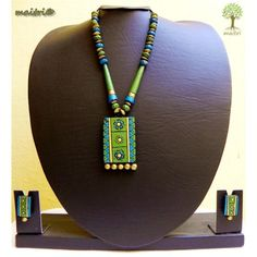 Terracotta Jewelry_Green Blue Gold Combo