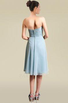Robe Demoiselle d'Honneur mid-longue col en coeur