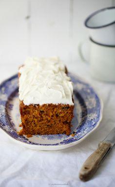 Rezept carrot cake Möhrenkuchen Kastenkuchen mit Frosting
