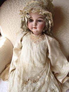 "Large Antique Bisque German Doll Simon Halbig 1079 36"" Beautiful VNTG Clothing | eBay"