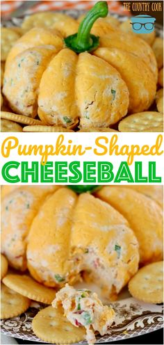 Pumpkin-shaped cheeseball Pumpkin-Shaped Cheeseball recipe from The Country Cook More from my site Harvest Chex Mix Fall Slow Cooker Recipes Slow Cooker Thanksgiving Sides: Take the Stress off Holiday Cooking Crock Pot Cranberry Turkey Breast Cheese Ball Recipes, Appetizer Recipes, Recipes Dinner, Cheese Appetizers, Appetizer Dips, Dessert Recipes, Easy Cheeseball, Tartiflette Recipe, Recipes