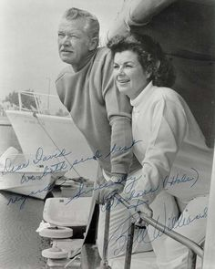 Barbara Hale and Bill Williams 1970s on boat