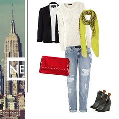 boyfriend jeans and neon, spring summer 2013 must have