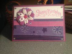 A Birthday card handmade by me
