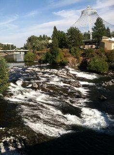 Bethel #30 views the river in Spokane