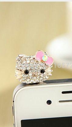 Plug para celular de Hello Kitty