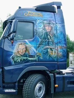 Pirates  truck I airbrushed
