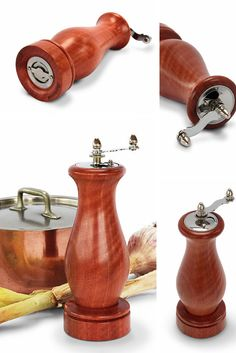 The Jarrah Crank Handle Pepper Mill mechanism is made from fine grade stainless steel for quality food preparation, and polished wood for a beautiful display.