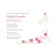 Floral Wedding Dress Bridal Shower Invitations