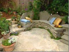 diy-stone-bench