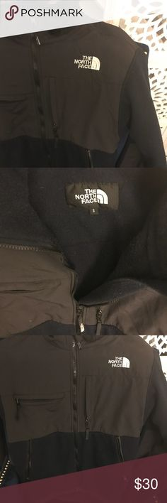 North Face jacket Size Small, fits more like a medium. Blue and black jacket. Warm and comfy. North Face Jackets & Coats