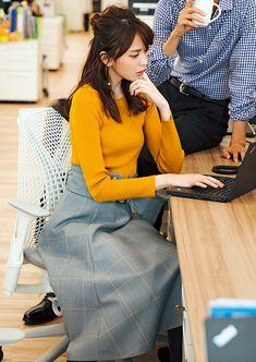 宮田聡子 andGIRL Fashion Pants, Look Fashion, Korean Fashion, Fashion Outfits, Fashion Design, Office Fashion, Business Fashion, Uniqlo Style, Estilo Street