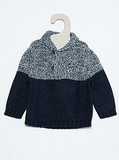Jerséis, chalecos - Jersey con cuello esmoquin - Kiabi Knitting Patterns Boys, Baby Knitting, Smoking Azul, Kids And Parenting, Knit Crochet, Baby Boy, Pullover, Children, Gabriel