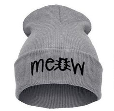The perfect way to stay warm and still display the love you have for cats! This Meow Hip-hop Beanie can be worn to add a little edge to any outfit. Cute enough to be worn with any outfit, this beanie