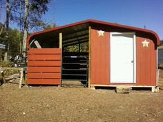 Barn made from a carport by myself and husband! 3 stalls and a tack room.