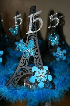 Shrewd expedited quinceanera party planning ideas you could look here Quinceanera Centerpieces, Quinceanera Decorations, Quinceanera Party, Party Centerpieces, Paris Quinceanera Theme, Themes For Quinceanera, Sweet Sixteen Centerpieces, Paris Sweet 16, Sweet 15