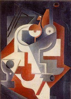 Gris - Composition coupe et verre sur table, 1917