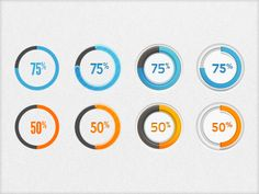 Progress Circles (Freebie) by Jesse Spencer - 30 Amazing Free PSD Design for Web and Graphic Designers