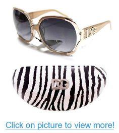 Sun Glasses Celebrity Shades DG Eyewear Celebrity Inspired Vintage Women's-Champagne with Hard Cover DG Zebra Case #Sun #Glasses #Celebrity #Shades #DG #Eyewear #Inspired #Vintage #Womens_Champagne #Hard #Cover #Zebra #Case