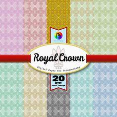 Royal Crown Digital Paper for Scrapbooking de ElectroPaper en Etsy