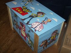 Toy Story Top View Of Our Beautiful Hand Drawn And Painted Toy Box Crafts Toystory Www Drawn4you Co Uk Toy Story Room Toy Story Nursery Painted Toy Boxes