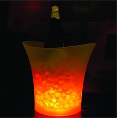 5L Bars Nightclubs LED Light up Ice Bucket Champagne Beer Bucket Yello *** Details can be found by clicking on the image.