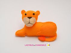 Felt LIONESS stuffed felt Lioness magnet or ornament Lioness