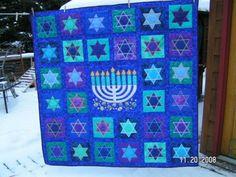 Chanukah quilt. IT'S GORGEOUS! :O