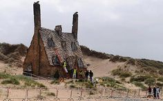 Harry Potter (movie set) Cottage made of shells. Wales