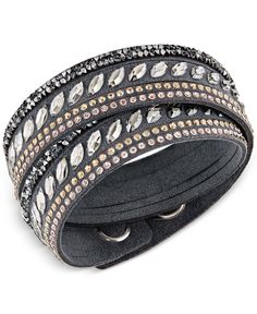 Swarovski Stainless Steel Slake Pulse Crystal Wrap Bracelet Urban Jewelry 13ceb0b3d3