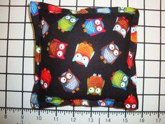 "Balsam Filled Pillow, Fresh Scent - Owls Pattern - 5"""