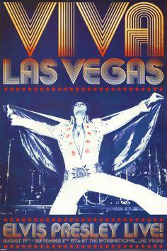 Elvis Presley - Viva Las Vegas Vintage Poster