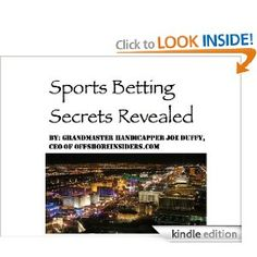 Sports Betting Secrets, Handicapping Myths, Wagering Tips Book on Amazon