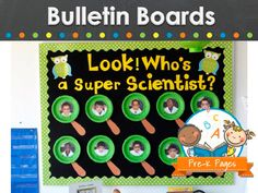 Cute bulletin board ideas for preschool, pre-k, or kindergarten classrooms.
