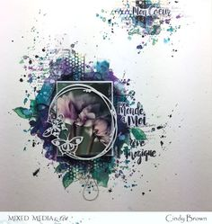 September challenge by Cindy Brown (Mixed Media & Art) Mixed Media Scrapbooking, Scrapbooking Layouts, Scrapbook Paper Crafts, Scrapbook Pages, September Challenge, Weird Shapes, Candy Cards, General Crafts, Layout Inspiration