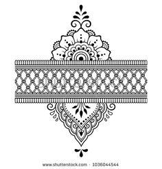 Set Mehndi Flower Pattern Bracelet Seamless Stock Vector (Royalty Free) 512208937 - Henna tattoo flower template and border. Set of ornamental patterns in the oriental s - Estilo Mehndi, Henna Patterns, Flower Patterns, Mehndi Flower, Henna Mehndi, Henna Drawings, Mehndi Designs Book, Muster Tattoos, Mehndi Style
