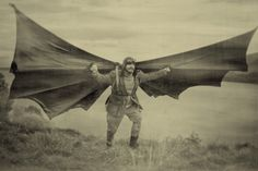 Otto's filght III (after Otto Lilienthal)  flying man