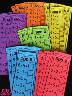 """Fact fluency is a big part of math in first grade. You may be thinking, """"How in the world am I going to teach these kiddos ALL these facts w... Maths Guidés, Teaching Math, Kindergarten Math, Preschool, Guided Maths, Year 1 Maths, First Grade Classroom, Math Classroom, 1st Grade Math Games"""