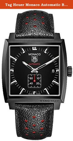 """Tag Heuer Monaco Automatic Black Dial Black Leather Mens Watch WW2119FC6338. - WITH MANUFACTURER SERIAL NUMBERS - Black Dial - Self Winding Automatic Movement - Sapphire Crystal Exhibition Back - Guaranteed Authentic - Certificate of Authenticity - Manufacturer Box & Manual - Brushed with Polished Titanium Carbide Coated Steel Case - Black Perforated Calfskin with Red Lining - Scratch Resistant Sapphire Crystal - 50 Meters / 165 Feet Water Resistant - 37mm x 37mm = 1 1/2"""" X 1 1/2"""" Case…"""